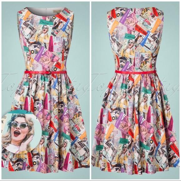 bd796275fb91 Lindy Bop Dresses   Vintage Magazine Print Dress   Poshmark